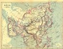 ASIA: Continent: LONGMANS, 1897 map